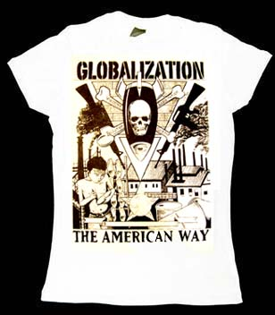Globalization, The American Way on a girls fitted shirt
