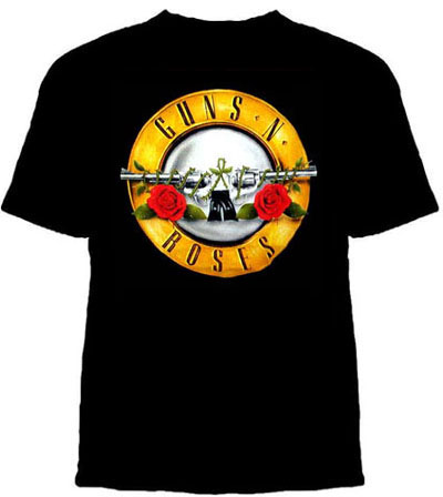Guns N Roses- Bullet Design on a black shirt