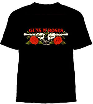 Guns N Roses- Pistols on a black shirt