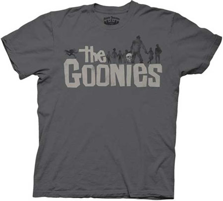 Goonies- Logo on a charcoal shirt