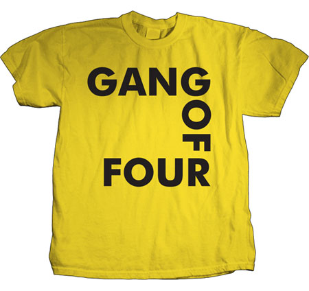 Gang Of Four- Logo on a yellow shirt