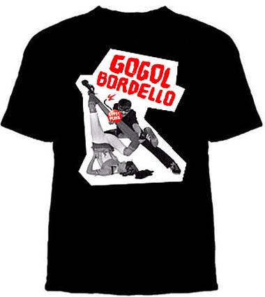 Gogol Bordello- Gypsy Punk Bomb on a black shirt