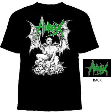 Hirax- 13th Son on front, Logo on back on a black shirt (Sale price!)