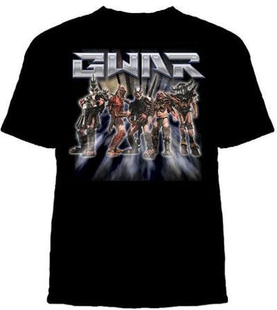 GWAR- Band & Rays on a black shirt