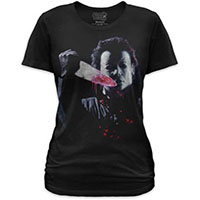 Halloween- Michael Myers on a black girls fitted shirt by Goodie Two Sleeves