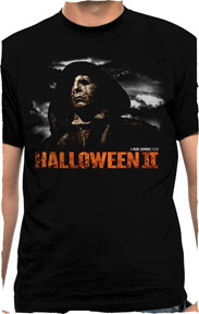 Halloween- Cloaked Michael (Rob Zombie's Halloween II) on a black shirt (Sale price!)