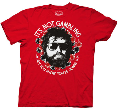 Hangover- It's Not Gambling on a red shirt (Sale price!)