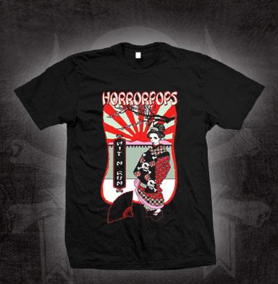Horrorpops- Hit N Run on a black shirt (Sale price!)