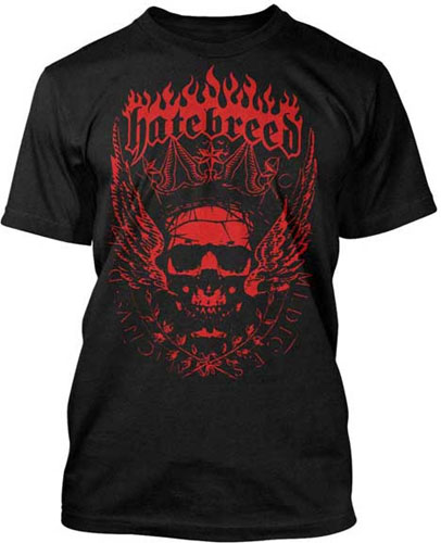 Hatebreed- Crowned Skull on a black shirt (Sale price!)