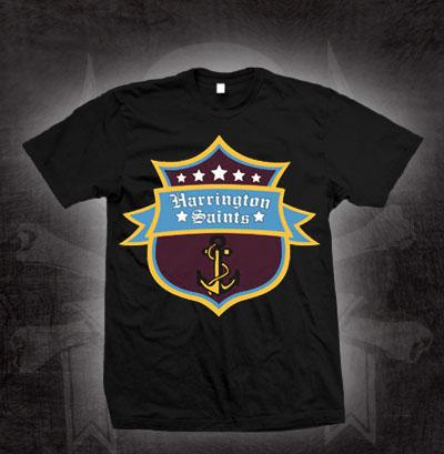 Harrington Saints- Anchor Crest on a black shirt (Sale price!)