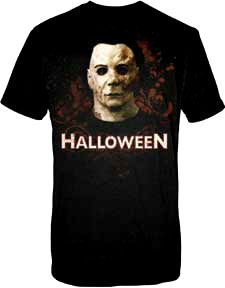 Halloween- Bloody Mask on a black shirt (Sale price!)