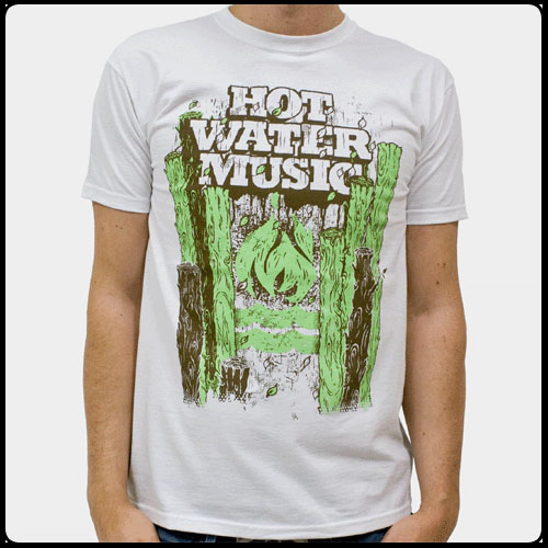 Hot Water Music- Trees on a natural shirt