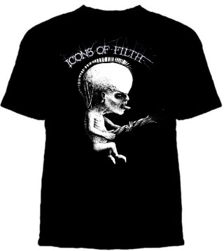 Icons Of Filth- Fetus on a black shirt (Sale price!)