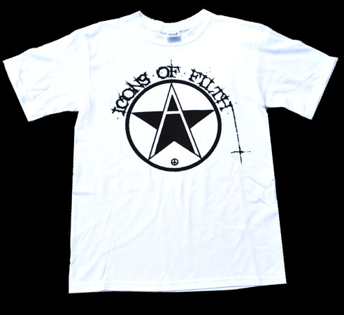 Icons Of Filth- Logo on a white shirt (Sale price!)