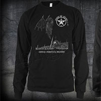 Icons Of Filth- Onward Christian Soldiers on front, Logo on back on a black LONG SLEEVE ringspun cotton shirt
