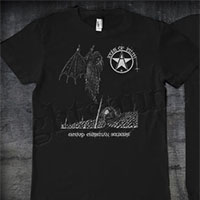 Icons Of Filth- Onward Christian Soldiers on front, Logo on back on a black shirt