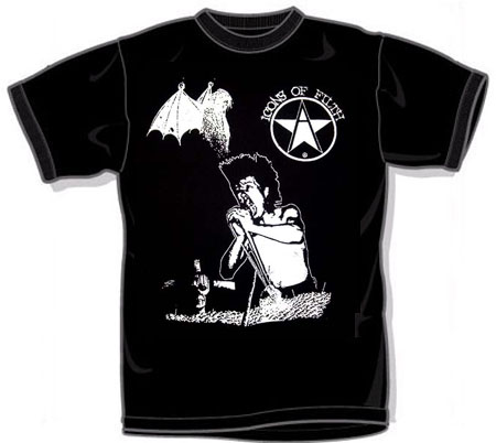 Icons Of Filth- Singer And Symbol on a black YOUTH SIZED shirt (Sale price!)