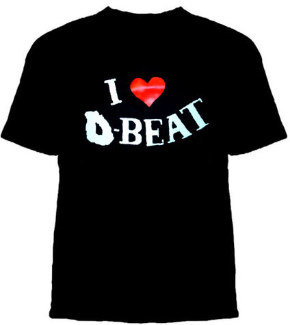 I Love D-Beat on a black YOUTH sized shirt
