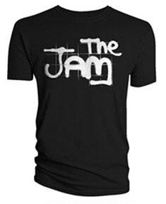 Jam- Spraypaint Logo on a black shirt
