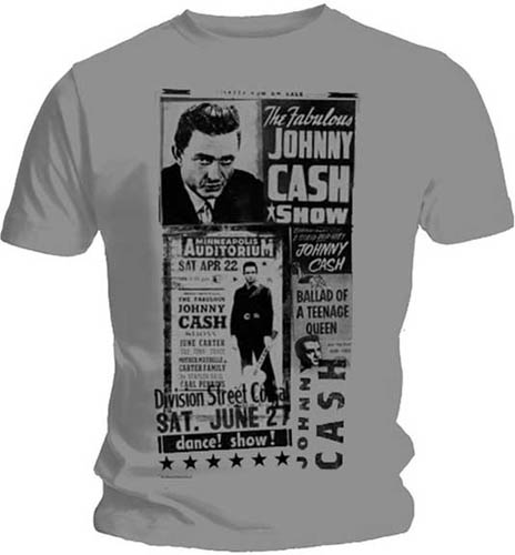 Johnny Cash- Johnny Cash Show on a silver shirt (Sale price!)