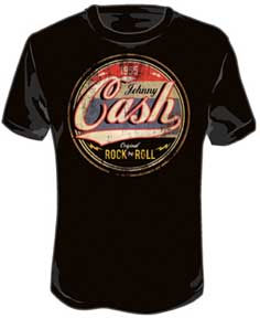 Johnny Cash- Original Rock N Roll on a black shirt (Sale price!)