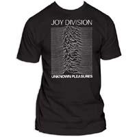 Joy Division- Unknown Pleasures on a black shirt