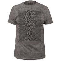 Joy Division- Unknown Pleasures on a heather grey tri-blend ringspun cotton shirt