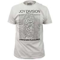 Joy Division- Unknown Pleasures (Black Ink) on a white ringspun cotton shirt