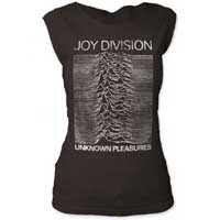 Joy Division- Unknown Pleasures on a vintage black girls fitted cap sleeve shirt