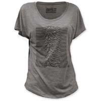 Joy Division- Unknown Pleasures on a grey girls dolman shirt