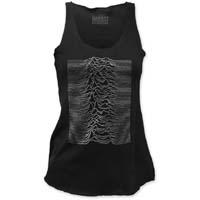 Joy Division- Unknown Pleasures on a black girls racerback tank shirt