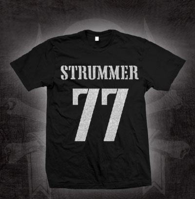 Joe Strummer- 77 on a black shirt (Sale price!)