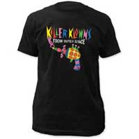 Killer Klowns From Outer Space- Popcorn Gun on a black ringspun cotton shirt (Sale price!)