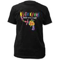 Killer Klowns From Outer Space- Popcorn Gun on a black ringspun cotton shirt