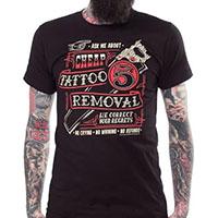 Kustom Kreeps Tattoo Removal on a black guys slim fit shirt by Sourpuss