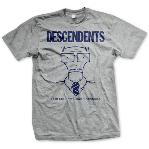 Descendents- Thou Shalt Not Commit Adulthood on a heather grey shirt
