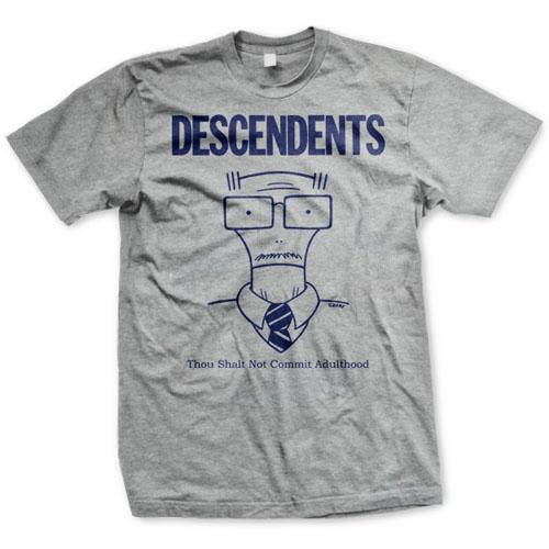 Descendents- Thou Shalt Not Commit Adulthood on a heather grey shirt