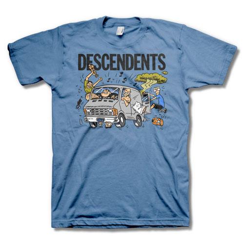 Descendents- Van on a blue shirt