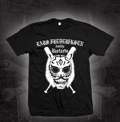 Lars Frederiksen & The Bastards- Tiger Mask on a black shirt (Sale price!)