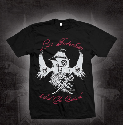 Lars Frederiksen & The Bastards- Ship With Wings on a black shirt (Sale price!)
