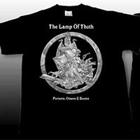 Lamp Of Thoth- Portents, Omens & Doom on front, 1888 Tour on back on a black shirt (Sale price!)