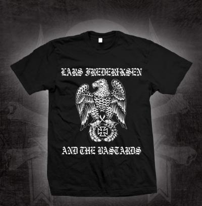 Lars Frederiksen & The Bastards- Eagle on a black shirt (Sale price!)