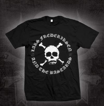 Lars Frederiksen & The Bastards- Skull Logo on a black shirt (Sale price!)