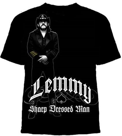 Lemmy Kilmister (Motorhead)- Sharp Dressed Man on a black shirt (Sale price!)