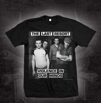 Last Resort- Violence In Our Minds on a black shirt (Sale price!)
