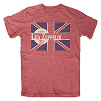 Led Zeppelin- An Evening Of on a heather red shirt