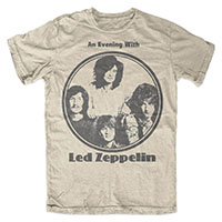 Led Zeppelin- An Evening With on a natural shirt