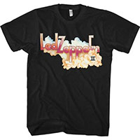 Led Zeppelin- II on a black ringspun cotton shirt