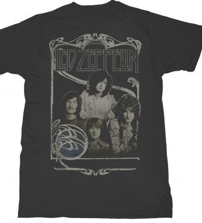 Led Zeppelin- Band Pic on a black shirt