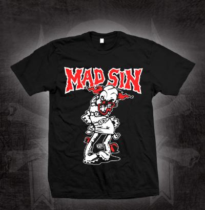 Mad Sin- Psycho Clown on a black shirt (Sale price!)